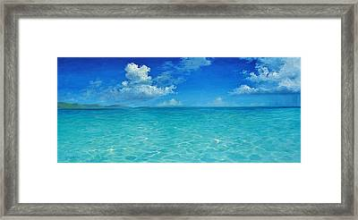 Rendezvous Bay Shower  Framed Print