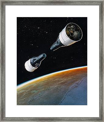 Rendezvous Mission, Gemini 6 And 7, 1965 Framed Print