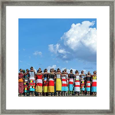 Rendille And Samburu Traditional Dress Framed Print