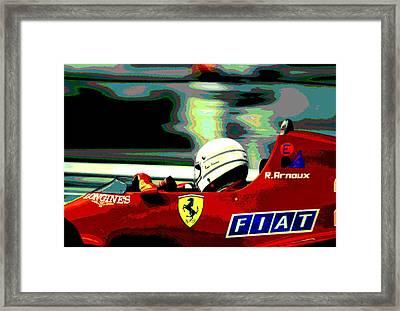 Rene Arnoux And Ferrari Framed Print