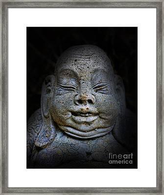 Qieci The Fat Budai - Fat Buddha Framed Print by Lee Dos Santos