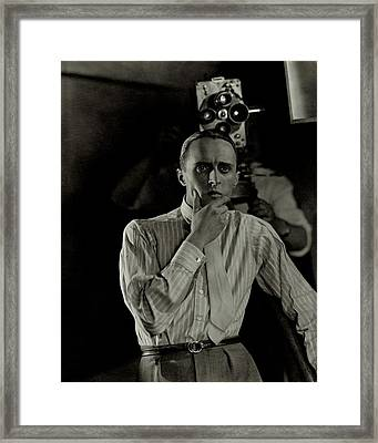 Rene Clair With A Camera Framed Print