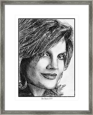 Rene Russo In 1999 Framed Print by J McCombie