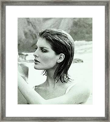Rene Russo With Hair Done By Harry King Framed Print