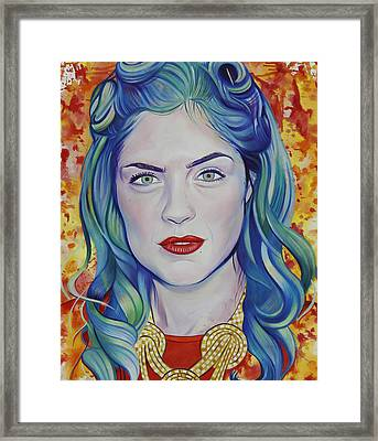 Framed Print featuring the painting Rene Taylor by Joshua Morton