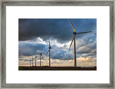 Renewable Energy Framed Print by Olivier Le Queinec