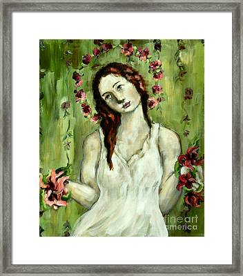 Renewal Framed Print by Carrie Joy Byrnes