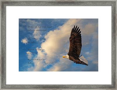 Renewed Strength Framed Print by Angie Vogel
