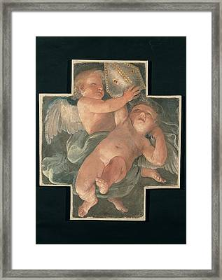 Reni Guido, Putti Carrying Mitre, 1613 Framed Print by Everett