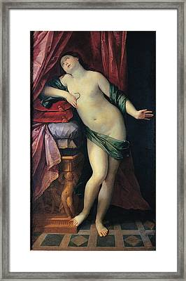 Reni Guido, The Suicide Of Cleopatra Framed Print