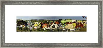 Reno Balloon Race Panorama Framed Print