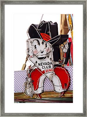 Reno - Old Nevada Club Framed Print by Frank Romeo