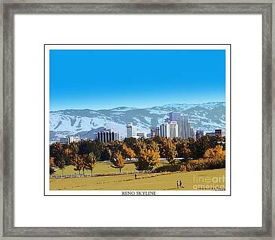 Reno Skyline From Rancho San Rafael Framed Print