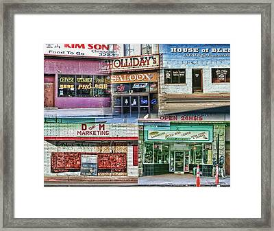 Reno Store Fronts Framed Print