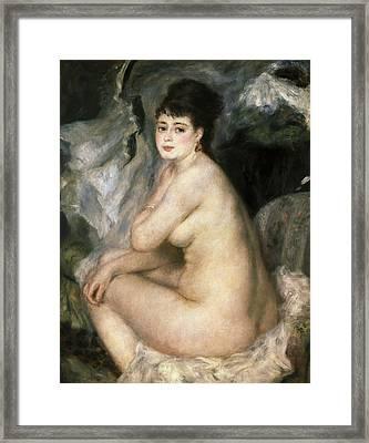 Renoirpierre-auguste 1841-1919. Nudeor Framed Print by Everett
