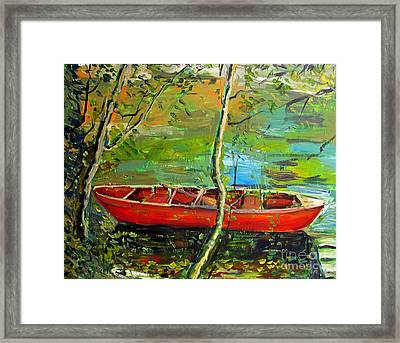 Renoirs Canoe Framed Print by Charlie Spear