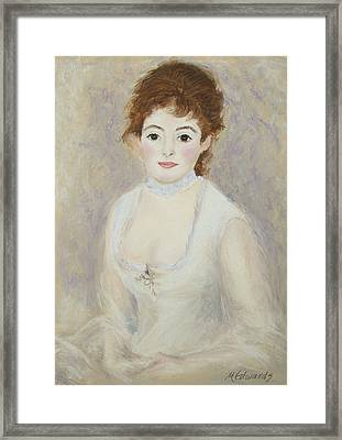 Renoir's Lady Framed Print by Marna Edwards Flavell