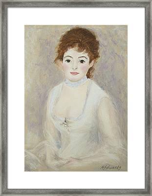 Renoir's Lady Framed Print
