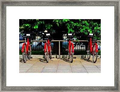 Rent-a-bike - Featured 3 Framed Print by Alexander Senin