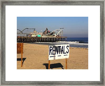Rentals At The Shore Framed Print
