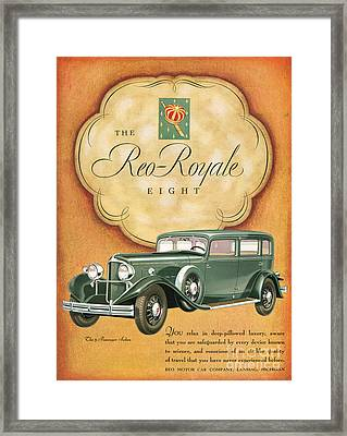 Reo Royale 1931 1930s Usa Cc Cars Framed Print by The Advertising Archives