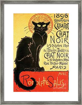 Reopening Of The Chat Noir Cabaret Framed Print
