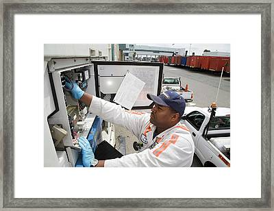 Repairing Refrigerated Cargo Container Framed Print by Jim West