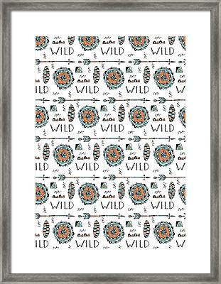 Repeat Print - Wild Framed Print by Susan Claire