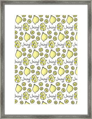 Repeat Prtin - Juicy Lemon Framed Print by Susan Claire