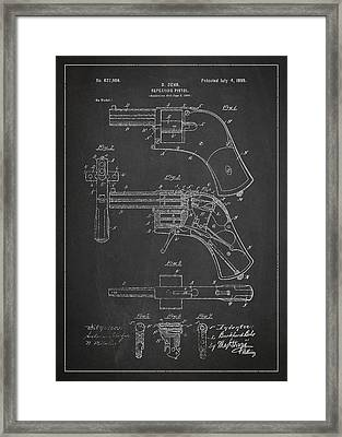 Repeating Pistol Drawing From 1899 Framed Print