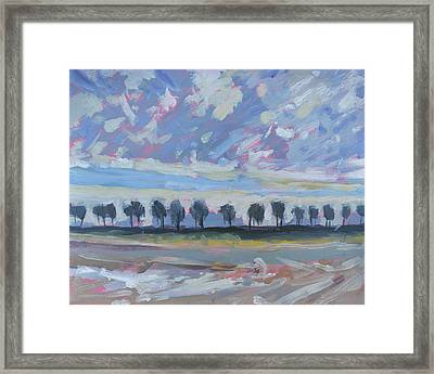 Repeating Sheep And Trees Framed Print