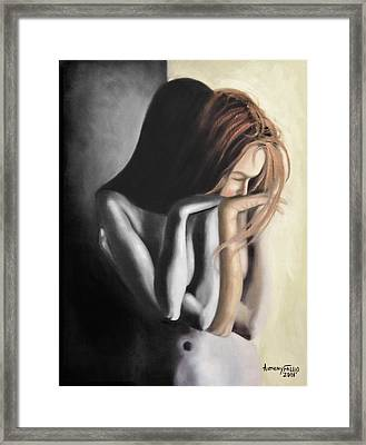 Repenting Framed Print by Anthony Falbo