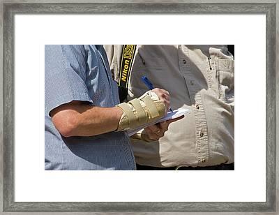 Repetitive Strain Injury Framed Print