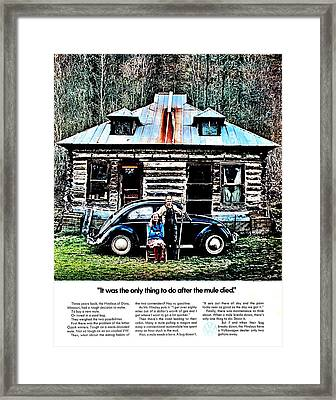 Replaced The Mule Framed Print by Benjamin Yeager