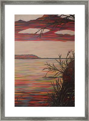 Replenishing Rio Grande Framed Print by Lynne Sanchez