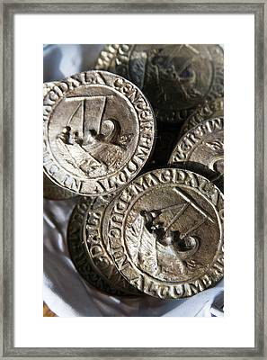 Replica Ancient Roman Coinage Once Framed Print by Dave Bartruff