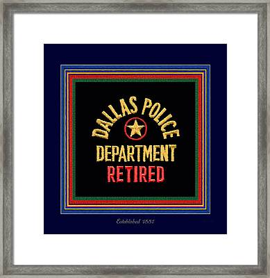Replica D P D Patch - Retired With Epaulette Colors Framed Print