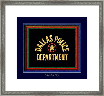 Replica Dpd Patch With Epaulette Colors Framed Print