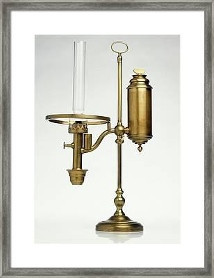 Replica Of Oil Lamp Framed Print by Dorling Kindersley/uig