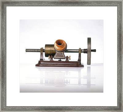Replica Of Thomas Edison's Phonograph Framed Print