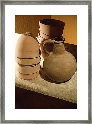 Replicas Of Ancient Essene Pottery Framed Print by Dave Bartruff