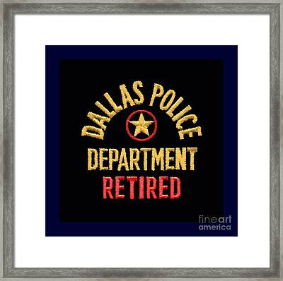 Replica D P D Patch - Retired Framed Print
