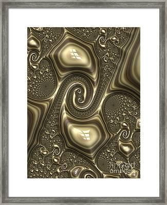 Repousse In Bronze Framed Print by John Edwards