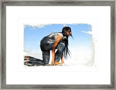 Represent Framed Print by Sharon Irla