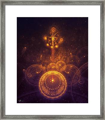 Representation Of Climax Framed Print by Cameron Gray