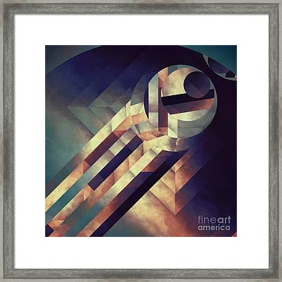 Repressed Elipse Framed Print by Lonnie Christopher