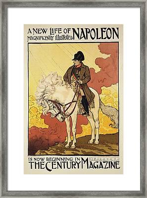 Vintage Poster Depicting Napoleon Framed Print by Eugene Grasset