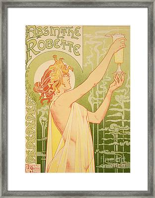 Reproduction Of A Poster Advertising 'robette Absinthe' Framed Print