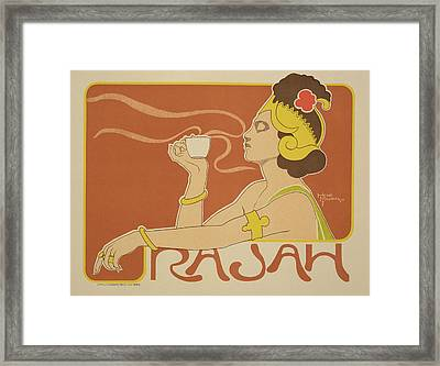 Reproduction Of A Poster Advertising The 'cafe Rajah' Framed Print by Henri Georges Jean Isidore