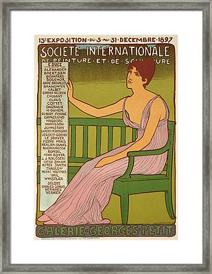 Reproduction Of A Poster Advertising The Georges Petit Gallery Framed Print